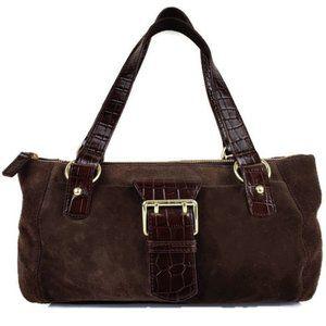 Lauren Ralph Lauren Brown Suede Shoulder Bag